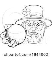 Poster, Art Print Of Leprechaun Holding Cricket Ball Sports Mascot