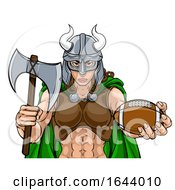 Viking Female Gladiator Football Warrior Woman by AtStockIllustration