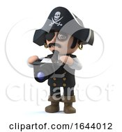 3d Cute Pirate Captain Takes A Photo With His Camera