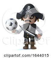 3d Cute Pirate Captain Loves Soccer