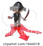 3d Funny Pirate Captain Character Has A Decision To Make