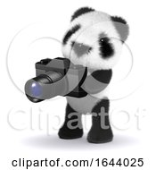3d Baby Panda Bear Using His Camera by Steve Young