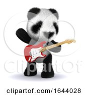3d Panda Guitarist by Steve Young