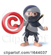 3d Ninja Warrior Assassin Holding A Copyright Symbol