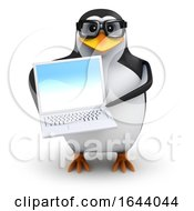 3d Penguin Holding A Laptop by Steve Young