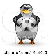 3d Penguin Holding A Soccer Ball by Steve Young