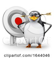 3d Penguin With An Arrow Through His Head by Steve Young