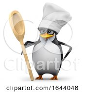 3d Penguin Chef Student With Spoon by Steve Young
