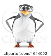 3d Academic Penguin With Hands On Hips