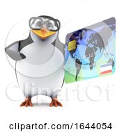 3d Academic Penguin Pays With A Credit Card