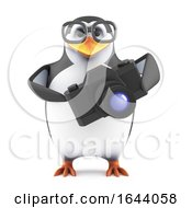 3d Academic Penguin Takes Pictures With His Camera by Steve Young