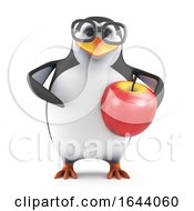 3d Academic Penguin Loves Apples by Steve Young