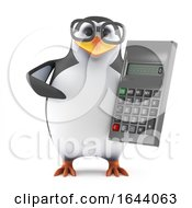 3d Academic Penguin With A Calculator by Steve Young