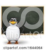 3d Penguin Teacher At A Chalkboard by Steve Young