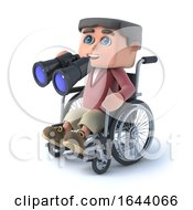 3d Boy In Wheelchair Has Binoculars by Steve Young