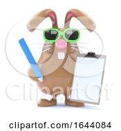 3d Clipboard Bunny