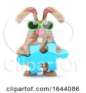 3d Easter Bunny Solves The Puzzle