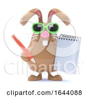 3d Note Taking Bunny