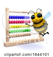 3d Honey Bee Counts On An Abacus by Steve Young