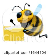 3d Bee With Folder Of Files
