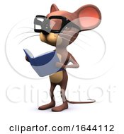 3d Mouse Reads A Book by Steve Young