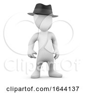3d Little Person Wearing A Trilby Hat