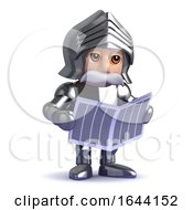 3d Knight Reads Newspaper by Steve Young