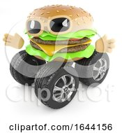 3d Wheeled Burger by Steve Young
