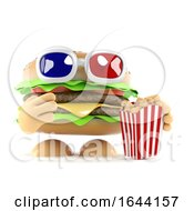 3d Beefburger Eating Popcorn At The Movies by Steve Young