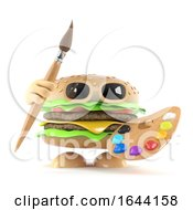 3d Burger Ready To Paint A Picture by Steve Young