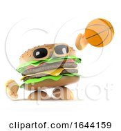 3d Beef Burger Is Playing Basketball by Steve Young