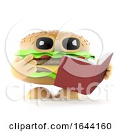3d Burger Reads A Good Book by Steve Young