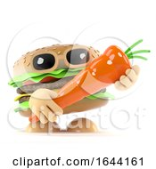 3d Beefburger Holding A Carrot by Steve Young