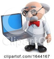 3d Scientist With His Data On A Laptop Computer by Steve Young