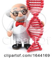 3d Scientist Studying A Genetic Dna Double Helix Strand Molecule by Steve Young