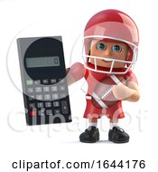 3d American Football Holding A Calculator by Steve Young