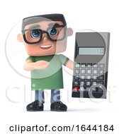 3d Boy Wearing Glasses Holding A Calculator by Steve Young