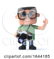 3d Boy In Glasses With A Camera by Steve Young
