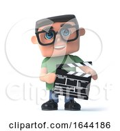 3d Boy Wearing Glasses Makes A Movie by Steve Young