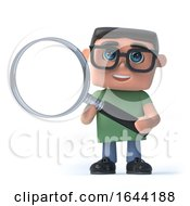 3d Boy In Glasses Using A Magnifying Glass by Steve Young