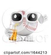 3d Baseball Character Drinks At The Party by Steve Young
