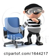 3d Burglar Finds An Empty Office Chair