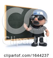 3d Biker Teaches At The Blackboard by Steve Young