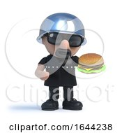 3d Biker Eating A Burger by Steve Young