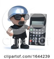 3d Biker Has A Calculator by Steve Young