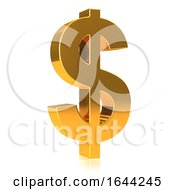 3d Gold USA Dollar Currency Symbol