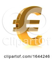 3d Gold Euro Currency Symbol by Steve Young