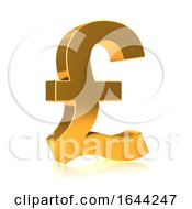 3d Gold UK Pound Currency Symbol by Steve Young