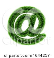 3d Grass Email Address Symbol