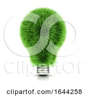 3d Green Grass Light Bulb